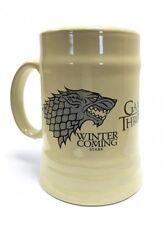 Game Of Thrones House Stark Wolf Family Sigil Crest Ceramic Stein Mug Official