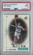 Mike Bibby 1998 99 SP authentic #92 grizzlies RC rookie F/X /3500 Mint PSA 9