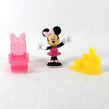 "Minnie Mouse Bowtique Toy Figure 3"" Bendable with Sand Castle Beach Chair"