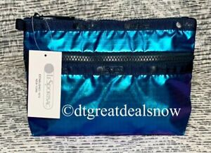 NWT LeSportsac Cosmetic Clutch Aura Iridescent  Color 7105 F528 New
