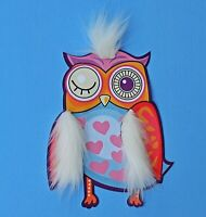 3D Large Cute Soft Fabric Embroidery Sewn On Patch Badge Applique Owl Fur Bird