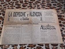 Journal - La Dépêche d'Alençon et de l'Ornen° 14, 27/01/1949