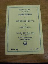 29/05/1984 Harrisons V Walsall [no Penn beneficio]. gracias por ver nuestro artículo,