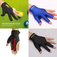 Three Finger Accessory Left Hand Spandex Snooker Billiard Cue Glove Pool