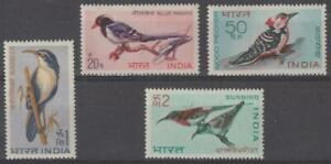India 1968 #480-83 Birds (Set of 4) - MH