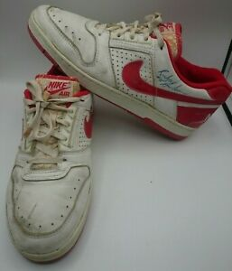 1980s Nike Delta Force AC NBA Game Used Basketball Shoes Signed Richard Anderson