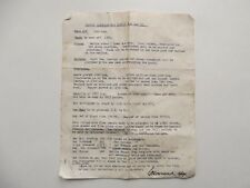 WW2 BRITISH TYPED ORDERS DATED 31ST MAY 1943