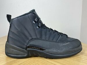 Men's Nike Air Jordan 12 XII Retro Winterized Triple Black Size 9.5 BQ6851-001
