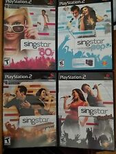 LOT 4 SingStar Pop '80s Rocks! amped PS2 Playstation 2 Video Game