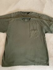 (2) Vintage Stafford Jc Penny's Men's T-Shirts M Medium Olive Green