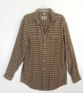 "Territory Ahead Plaid Textured Heavy Cotton Shirt Men's XL Long. Chest 50"""