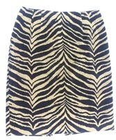 talbots womens skirt size 8 stretch velvet animal print tiger stripe tan black