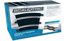 SCALEXTRIC C8555 DOUBLE LANE RADIUS 3 CURVE TRACK NEW 1/32 SLOT CAR TRACK 8 PCS.