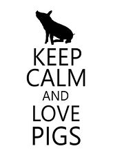 Keep Calm And Love Pig STICKER DECAL VINYL BUMPER CAR Wall Locker Notebook