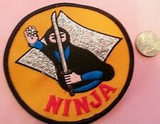 """Ninja fighter embroidered iron on sew on patch new old stock 4""""x 4"""""""