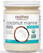NEW NUTIVA COCONUT MANNA PUREED BUTTER VEGAN NON-GMO SUPERFOOD USDA NO TRANS FAT