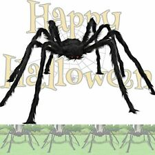 Araña de peluche grande gigante de 200CM Negro Halloween casa embrujada Fiesta De Jardín Accesorios