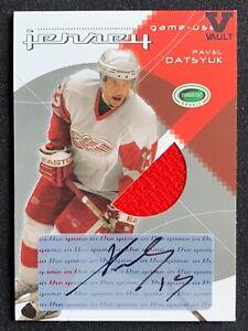 Pavel Datsyuk 2003-04 ITG Parkhurst Vault GU Jersey AUTO Autograph SSP Red Wings