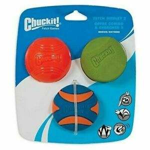 Chuckit! Fetch Medley Gen 2, 3pack Medium Dog Ball Interactive Dog Play