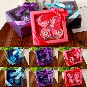 Handmade Scented Bath Body Petal Rose Flower Soap Wedding Home Decoration Gift