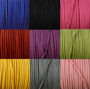 Rockin Beads Micro Fiber Faux Suede 3mm Flat Lace Beading Craft Cord