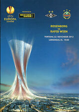PROGRAMM PROGRAMMHEFTE ROSENBORG-RAPID WIEN AUSTRIA 12-13 EUROPA LEAGUE