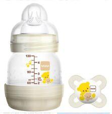 New listing 2 Mam Baby Bottles 4 oz Matching Pacifier Anti Colic Self Sterilizing Newborns