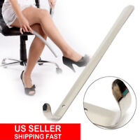 """22"""" Long Handled Metal Shoe Horn Lifter Stainless Steel with Hanging Hole USA"""