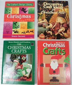 SET of 4 Books: Christmas Crafts DIY Ornaments Decorations Recipes Gifts
