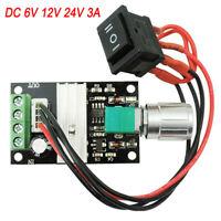 DC Motor Speed Switch Controller 10V 12V 24V Control Reversible PWM Regulator 3A