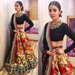 Bollywood Classy Party Wear Lehenga Lengha Floral Indian Designer Chaniya Choli