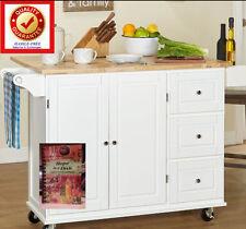Kitchen Island Cart / Rolling Serving & Food Preparation Island & MS Cookbook