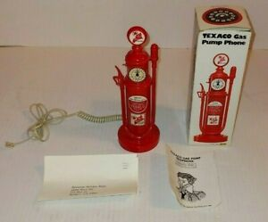 Texaco Gas Pump Phone In Box With Accessories