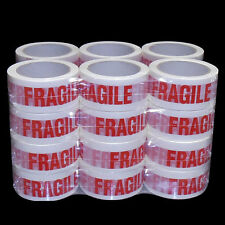 24 Rolls FRAGILE Sticky Packing Tape 75M x48mm Red on White