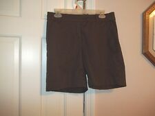 KIM ROGERS LADIES SIZE 10 BROWN SHORT FLAT FRONT CASUAL SHORTS SHORT PANTS