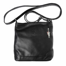 Unifarbene Damen-Abendtaschen aus Leder mit verstellbaren Trageriemen