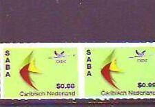 CARIBISCH NEDERLAND 2014  SABA  frankeerzegels 2w postfris/mnh
