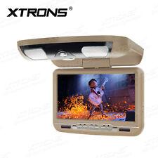 "Beige 9"" Car Roof Mount Player DVD Flip Down Overhead Monitor Game MP3 MP4 IR FM"