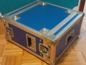 Flight Case 5 HE , Rack , blau