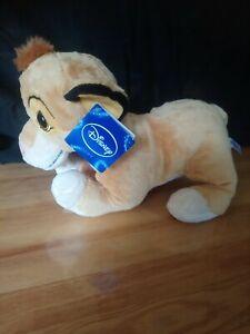 Peluche doudou Simba roi lion 30 cm Disney Nicotoy neuf