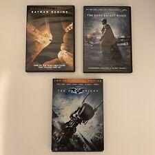 Batman Begins, The Dark Night Rises and The Dark Night