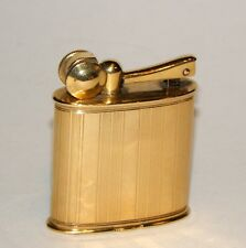 rare 1926 french art deco SAM solid 18k gold engine turned liftarm lighter