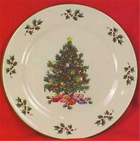 Gibson Christmas Tree Salad Plate Porcelain Presents Holiday Dinnerware Eve