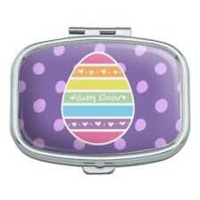 Cute Rainbow Happy Easter Egg Rectangle Pill Case Trinket Gift Box