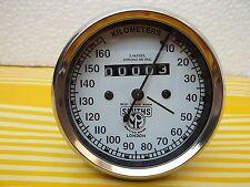Norton  Royal Enfield  Speedometer 0-160 KPH White Face Smiths Replica