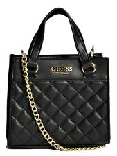 NWT GUESS TAYLOR HANDBAG Small Black Logo Satchel Crossbody Shoulder Bag GENUINE