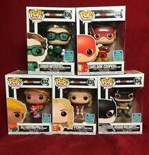 Funko Pop Vinyl TV Big Bang Theory DC Superhero SDCC 2019 Set of 5