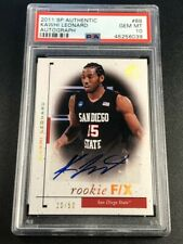 KAWHI LEONARD 2011 SP AUTHENTIC #88 ROOKIE F/X AUTO ROOKIE RC /50 PSA 10 NBA