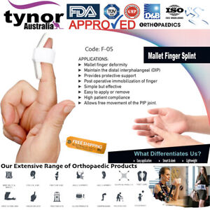 Tynor™ Baseball Mallet Finger Splint Padded DIP Curved Trigger Dorsiflexion Pain