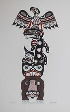 Tony Hunt Original Silkscreen Hand Signed Numbered Native Eagle Whale Beaver '85